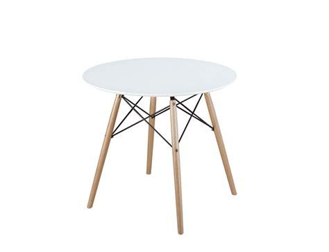 mesa de comedor de diseno redonda en dm  patas en