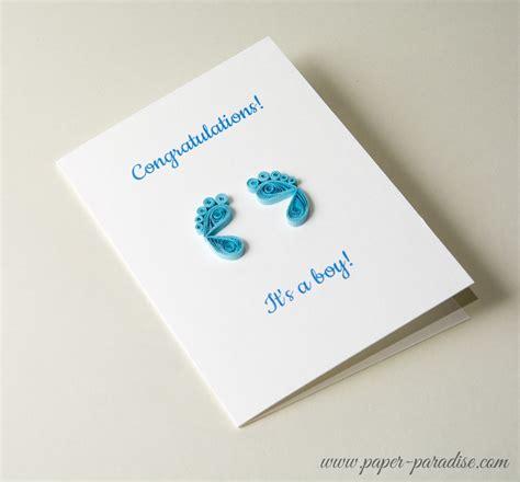 Handmade Baby Announcement Cards - kartki na narodziny dziecka paper paradise