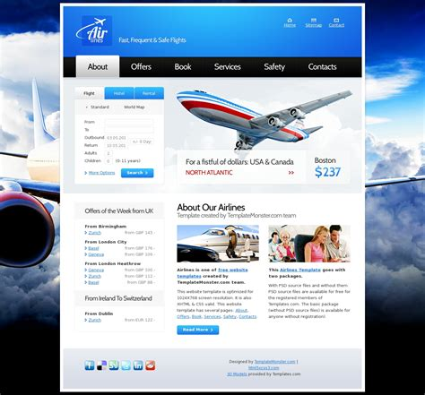 themes html css3 airlines2 html5 theme html5 css3 theme 187 all free web