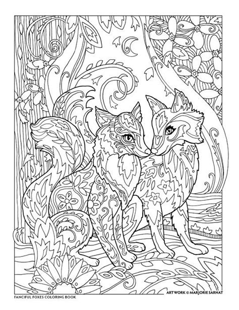 creative haven fanciful foxes coloring book  marjorie