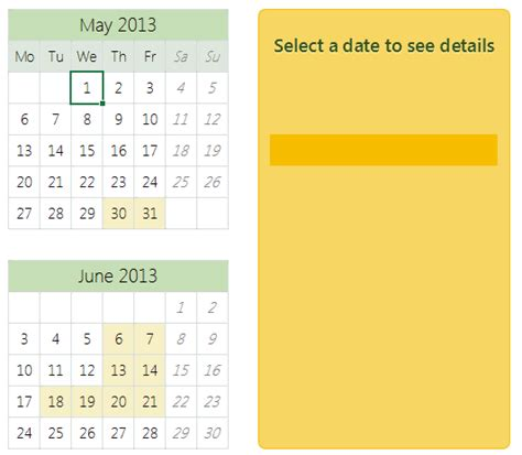 interactive calendar template made with excel and vba exploring excel