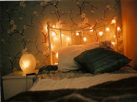 Winsome Bedroom With Fairy Room Decor Theme With Nice Bed Lights On Wall In Bedroom