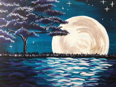 paint nite pasadena i am going to paint midnight moon glow at pinot s palette