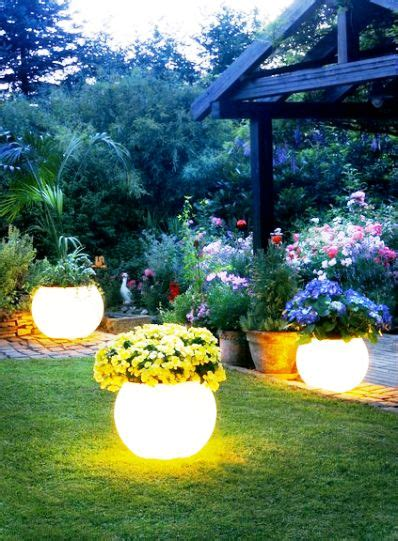glow in the painted planters planters glow and on