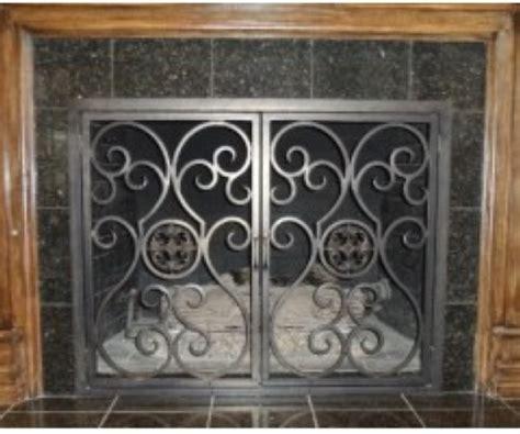 Custom Fireplace Screen Doors by Iron Fireplace Screens Custom Fireplace Screens Doors