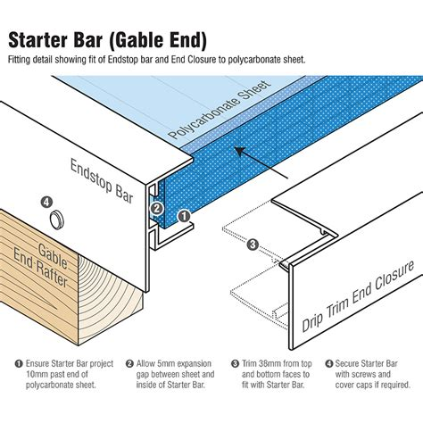 Bar Section by Alukap Xr Endstop Bar F Section Profile Truly Pvc Supplies