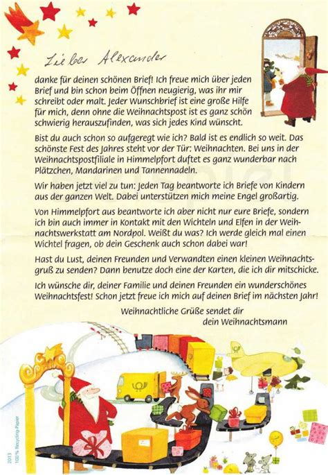 Weihnachtsbriefe Schreiben Muster Coole Idee Zu Weihnachten Brief An Den Weihnachtsmann