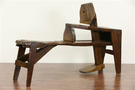shaving horse bench sold shaving or shave horse or bench for carpenter 1880