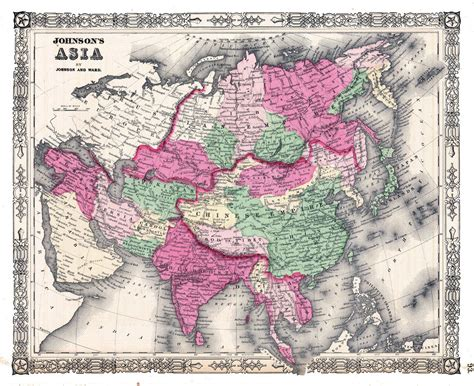 a history of the asia maps history