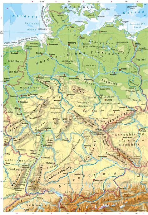 gebirgskarte deutschland diercke weltatlas kartenansicht deutschland