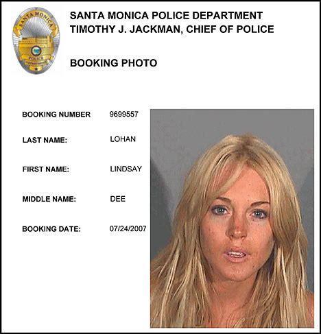 Lindsay Lohans Busted For Drugs by Justice 1 Lindsay Lohan Jailed For One Day