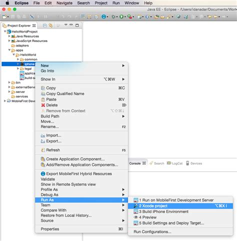 tutorial xcode 6 3 2 previewing your application on ios ibm mobile foundation