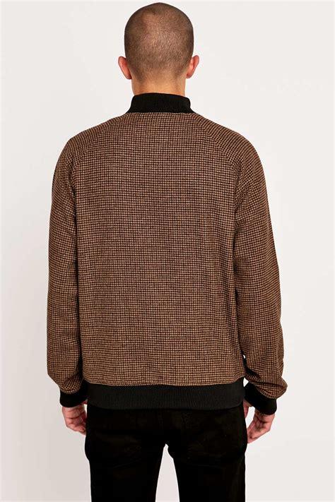 Pasangan Jaket Sweater Adidas Coklat Brown adidas brown tweed superstar jacket in black for lyst