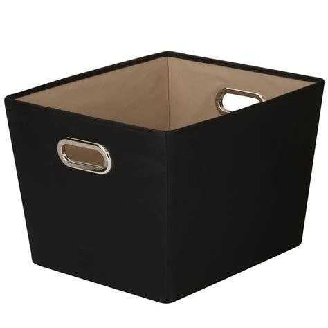 decorative storage bins honey can do medium decorative storage bin with handles black