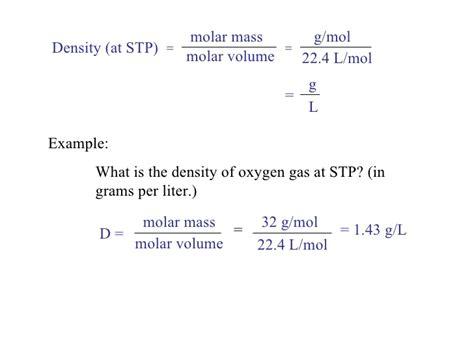 Density Of L by Image Gallery Stp Formula