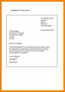Official Letter In Format 6 Formal Letter Format Target Cashier