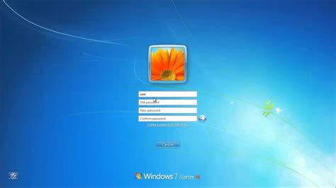 windows reset the password how to change your password in windows 7 youtube