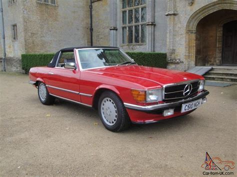 convertible mercedes red 1985 classic mercedes 280sl red sports convertible