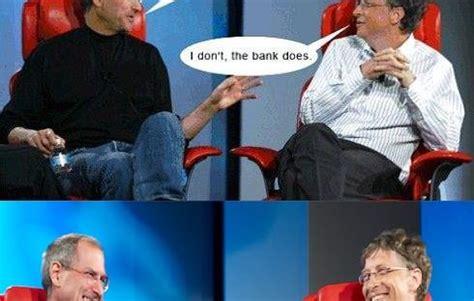 Steve Jobs Bill Gates Meme - hot smilegag