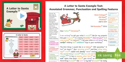Ks1 A Letter To Santa Exle Model Text Resource Pack Father Christmas Letter To Santa Template Ks1