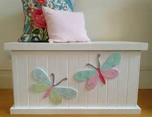 Outside Bench With Storage Toy Box Butterfly Girls Toy Box Toy Chest By