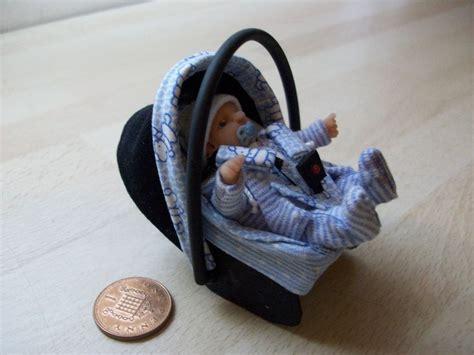 diy reborn baby car seat dolls house ooak sculpt baby boy car seat baby carrier