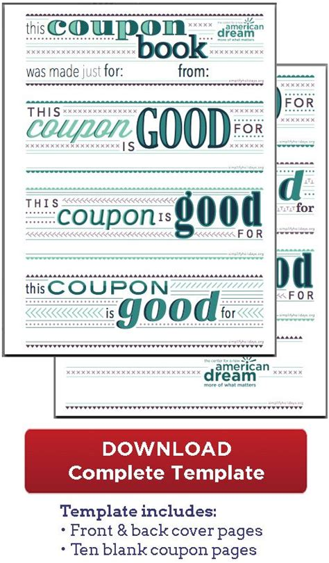 Coupon Book Download Great For The Boys For The Boys Pinterest Gift Coupons Printable Date Coupon Book Template