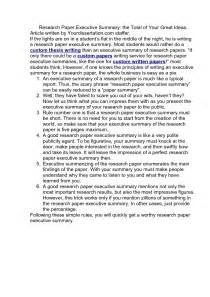 Write Summary Research Paper by Writing A Research Paper Summary How To Write An A Research Paper A Research Guide