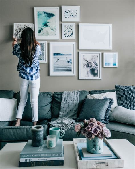 Blue Living Room Wall Decor - home refresh part 2 style grey