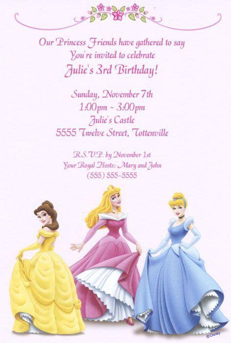 Disney Princess Invitation Card Template by Free Printable Birthday Invitations Templates D805 0661