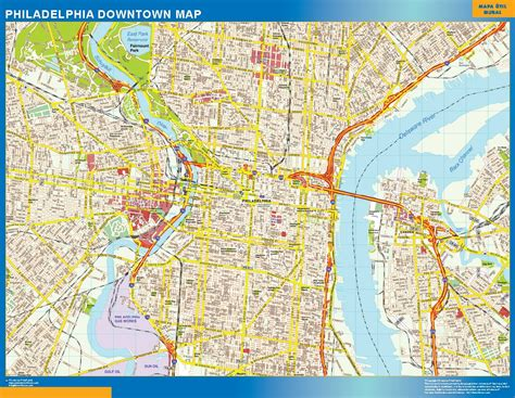 map us philadelphia philadelphia downtown map netmaps usa wall maps shop