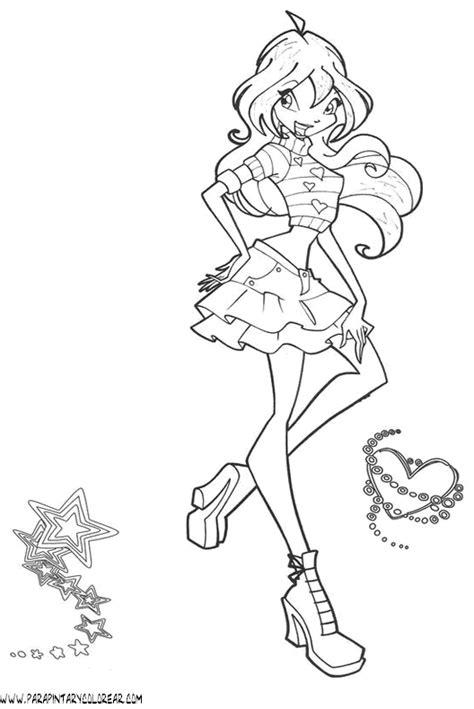 Imagenes Para Colorear Winx Club   dibujos para pintar winx imagui