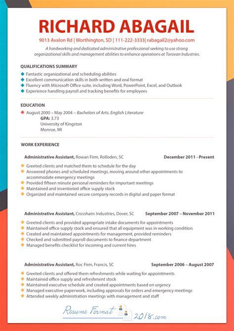resume format samples inspirational sample chronological resume