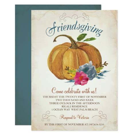 Personalized Friendsgiving Invitations Custominvitations4u Com Friendsgiving Invitation Free Template