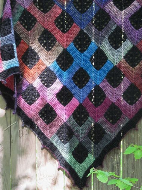 tartan knitting knit shawl quot tartan quot caledonia quot knitted shawl handmade