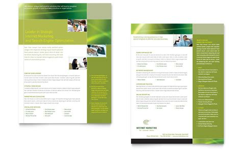 Internet Marketing Datasheet Template   Word & Publisher