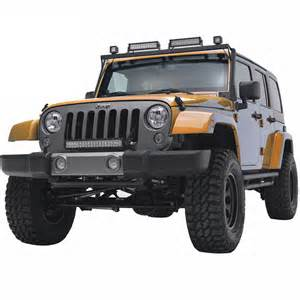 Jeep Wrangler With Led Light Bar 07 16 Jeep Wrangler Jk 20 Quot Led Light Bar Bracket