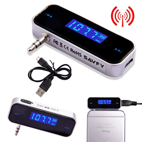 mobile with fm transmitter wireless to car radio fm transmitter for 3 5mm mp3