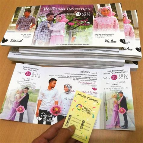 Undangan Soft Cover 2 undangan pernikahan softcover unik kreatif murah percetakan murah surabaya