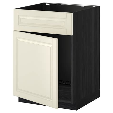 Front Cabinet by Metod Base Cabinet F Sink W Door Front Black Bodbyn