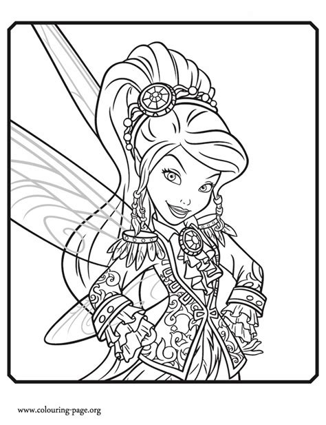 the pirate fairy vidia a tinker fairy coloring page