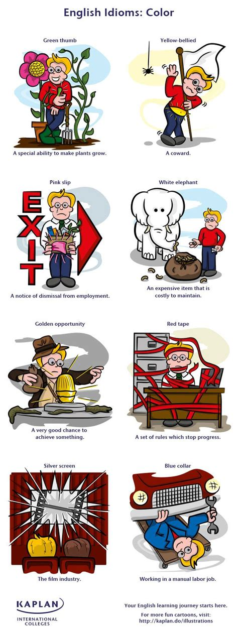color idioms free english vocabulary lesson color idioms repinned