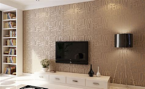 Living Room Sofa Designs by The Letters Wallpaper For Tv Wall Of New Home