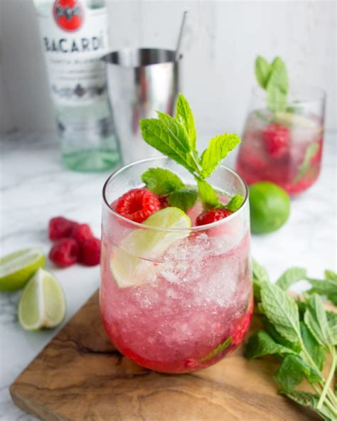 mojito recipe raspberry mojitos