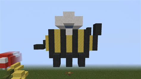 bee mine craft wip flowers and bee minecraft project