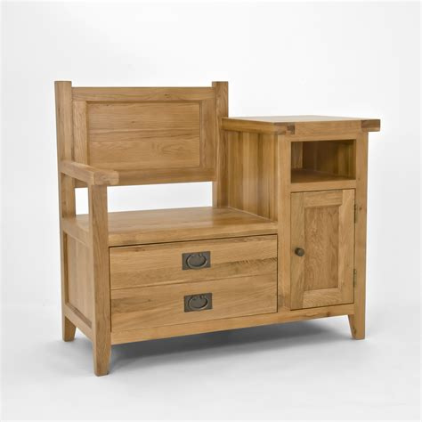 telephone bench seat chiltern grand oak telephone bench oak furniture solutions