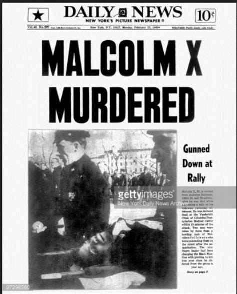 malcolm x illuminati new york daily news front page dated february 22 1965