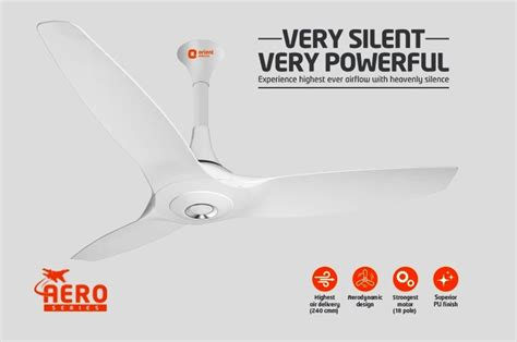low noise ceiling fans orient aeroquiet premium super silent ceiling fan for
