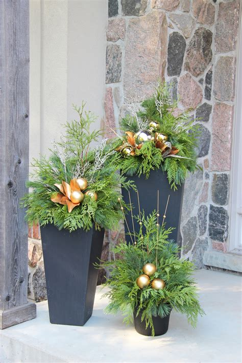 outdoor christmas planter all about christmas decorations pinterest outdoor christmas