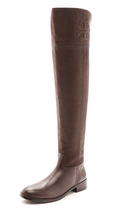 burch the knee flat boots black in brown